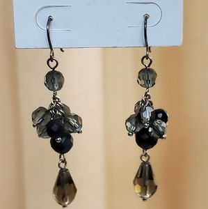 LOFT Blue Cluster Bead Earrings #492